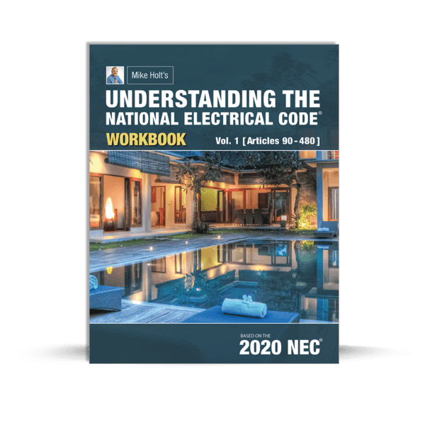 Mike Holt's Understanding the National Electrical Code volume 1 workbook book cover
