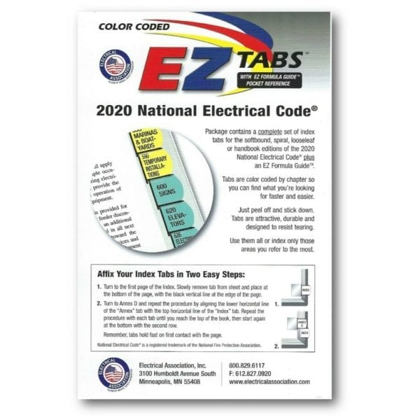 2020 National Electrical Code EZ Tabs book cover